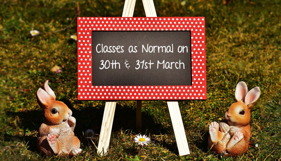 Easter class times